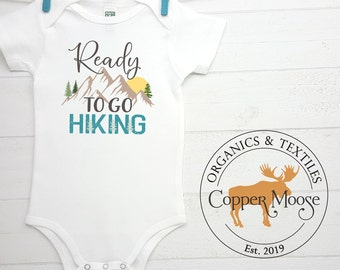 Hiker Baby Gift Outdoorsy Baby Baby Shower Gift Mountain Baby Bodysuit Hiking Baby Gift Mountain Baby Gift Gender Neutral Baby Gift