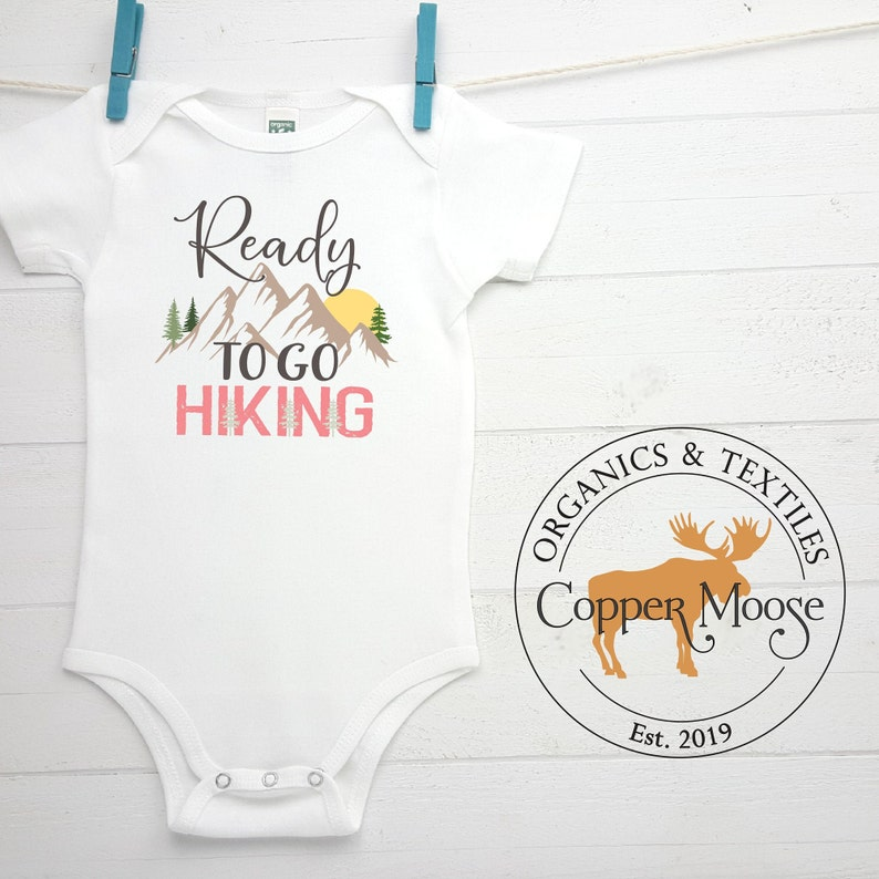 Baby Girl Clothes Ready to Go Hiking Baby Clothes Hiking Onesie\u00ae Baby Boy Clothes Organic Baby Onesie\u00aeBodysuit Adventure Baby