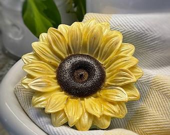 Sunflower Soap   Handmade Soaps   Flower Soap   Garden Theme Favors   Unique Gift   All Natural Soaps   Bar Soap   Etsy   Sunflower Oil Soap