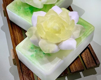 Gardenia Soap Bars | Handmade Soaps | All Natural | Mother's Day Gifts | Luxurious Bar Soaps | Large Soap Bar | Beauty | Unique Gift | Love