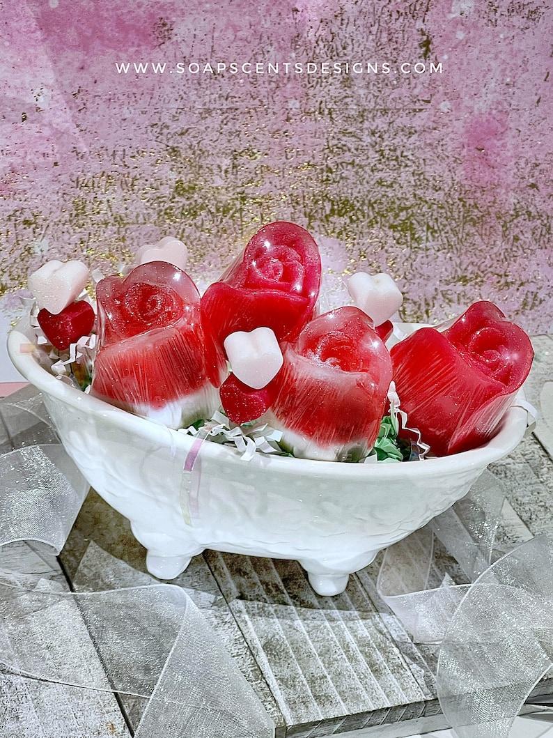 5-PC Rose Garden Gift Set  Handmade gifts  Glycerin soaps  image 1