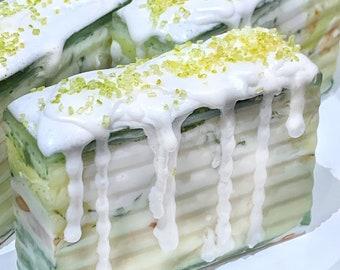Vanilla Chamomile Honey Handmade Soaps | Hemp Soap | All Natural | Handmade Gifts | Moisturizing Bar Soap | Glycerin Soaps | Made in the USA