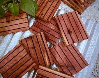 Oversized Wooden Soap Dish | Cedar Soap Dish | Draining Soap Dish | Handmade | All Natural | Made in USA | Natural Cedar Wood | Soap Holder