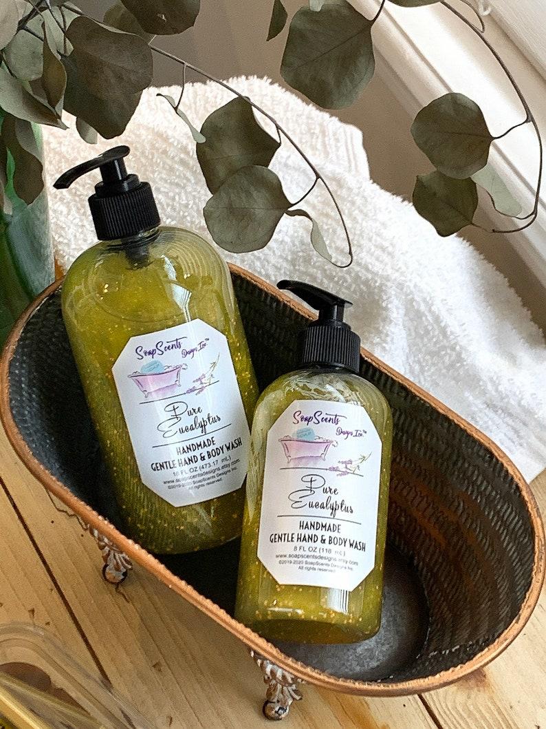 Pure Eucalyptus Gentle Hand & Body Wash  Handmade  image 0