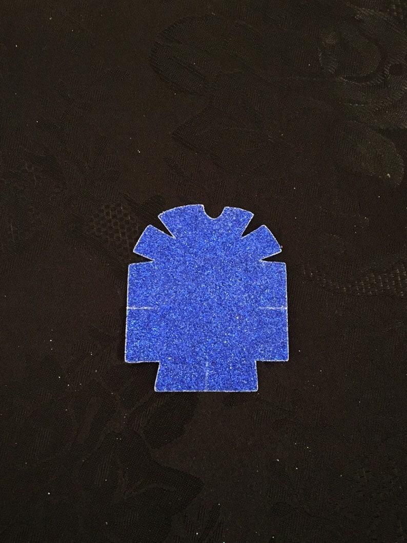 REUSABLE Holographic Blue Glitter Omnipod Sticker