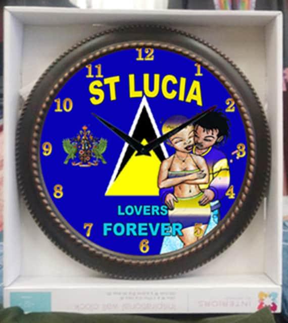 St Lucia Wall Clock Etsy