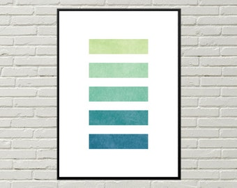 67b7d194e060f GEOMETRIC NAUTICAL print blue green color palette art nautical themed  geometric abstract beach house geometric abstract print ocean colors