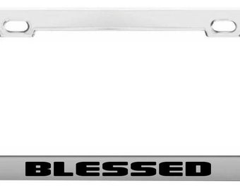 CIAO BELLA ITALY  Chrome Heavy Duty Metal License Plate Frame