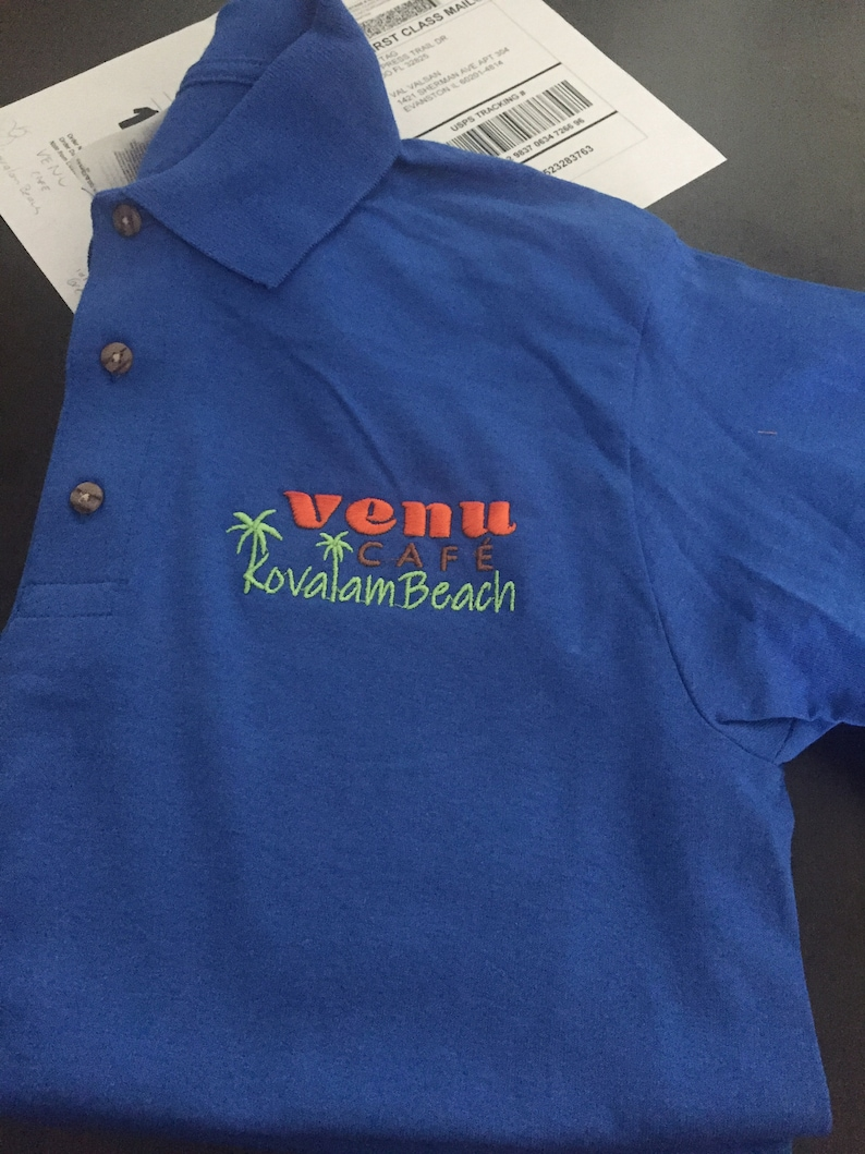 Polo Shirt Business Logo Text Custom Made Personalized Tshirt Uniform You Can Choosing Thread Text Colors ANY Color Polo For Your Embroidery