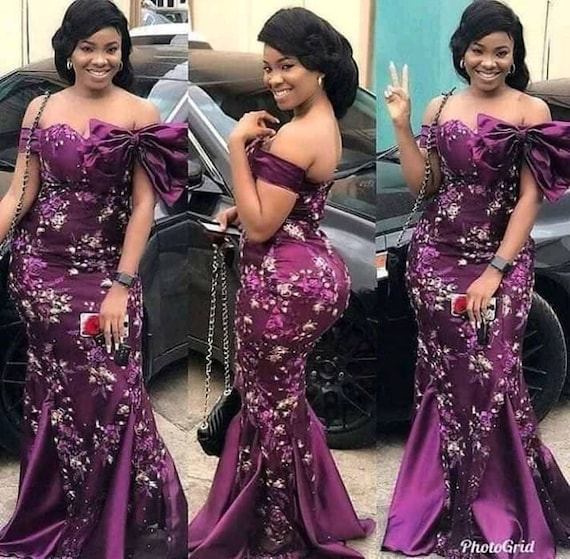 African Lace Dressafrican Prom Dressparty Wearafrican Weddingafrican Lace2019 Prom Dressafrican Fashion