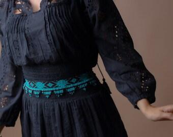 Waist belt, leather belt, beaded belt, boho belt, western belt, lace belt, women's belt, native belt