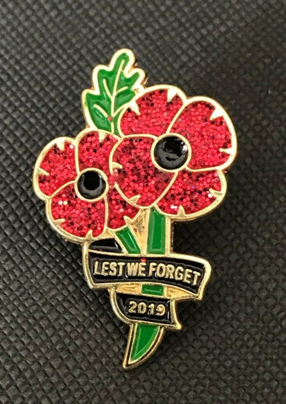 2x 2019 Poppy Remembrance Day Pin Badge Etsy