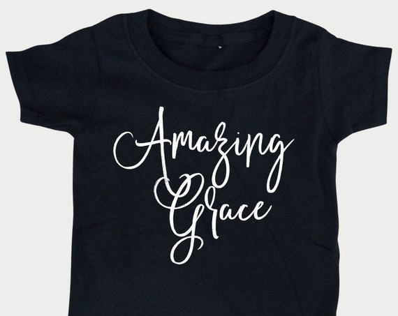 Amazing Grace Kid shirt, Bible t-shirt for toddlers, Christian Youth tshirt Gift