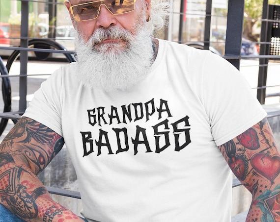 Grandpa Badass tshirt, gift for grandpa, tough guy grandpa gift, first time grandpa gift, Father's day gift for granpda
