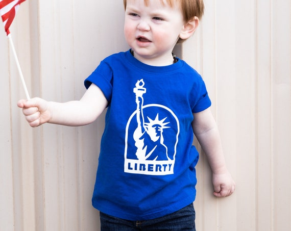 Statue of Liberty Toddler Tee, Patriotic Toddler Tee, Fourth of July tee, Gender Neutral kid clothes