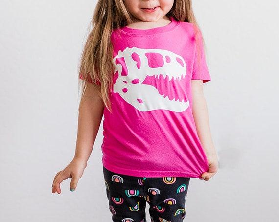 Dinosaur Skull Glow-in-the-dark Toddler Tee, Glow-in-the-dark Dinosaur shirt