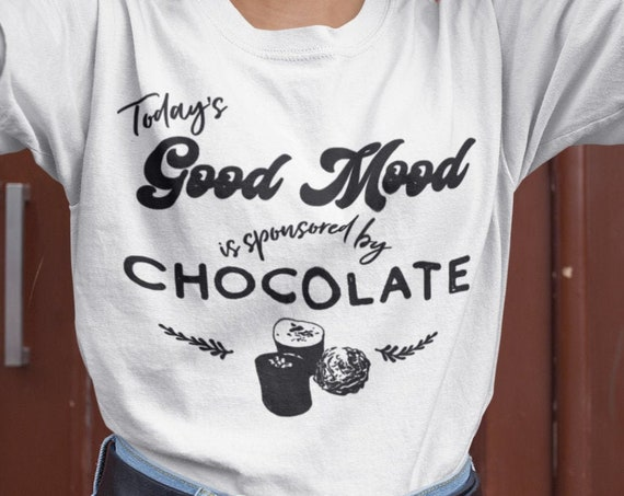 Funny Chocolate lover shirt, Chocolate lover gift, gift for chocolate lovers, Today's Good mood is spotty speed by chocolate