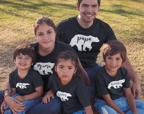 Family Bear Shirts, Matching Family shirts, Mama Bear, Papa Bear, Baby Bear, custom family t shirts
