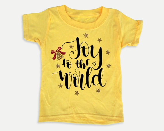 Joy to the World Toddler Tee, Christmas holiday toddler shirt