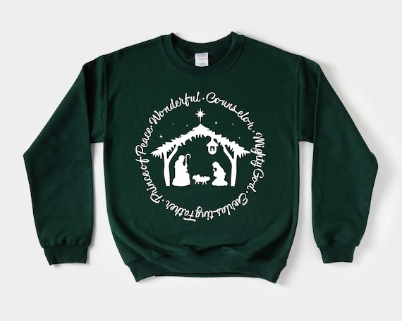 Names of Jesus Nativity Sweatshirt, Christian Christmas Sweatshirt