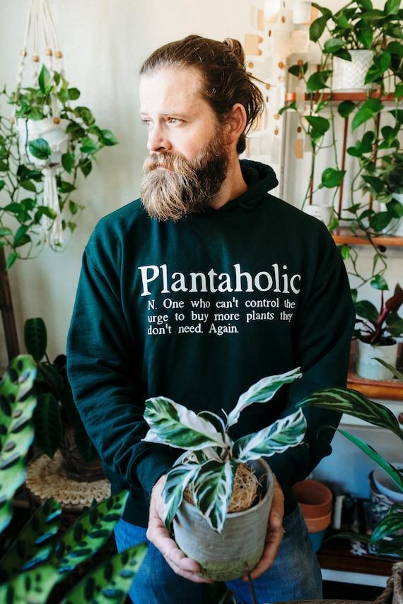 Plantaholic Hoodie Jacket, Funny Gift for Gardener Christmas Gift for Plant Lover