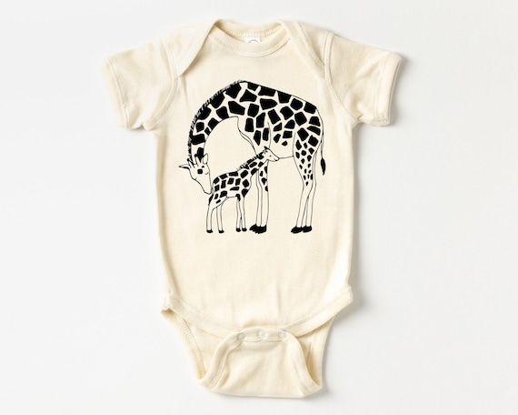 Giraffe Mother and Baby Outfit, Zoo Animal Baby clothes, Baby Christmas Stocking Stuffer