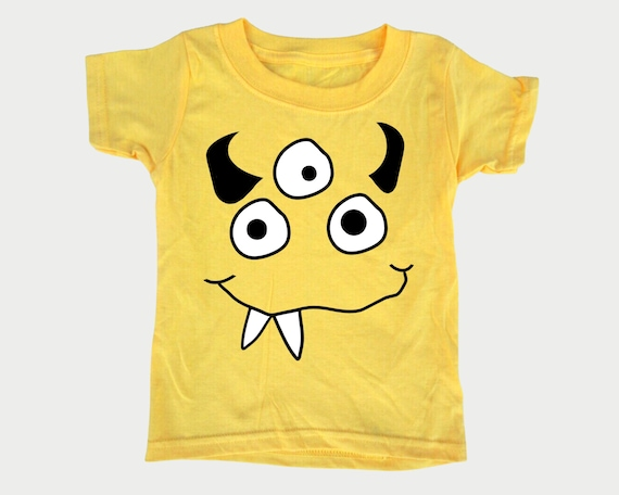 Silly Monster Face Tee, Toddler Youth Halloween t-shirt