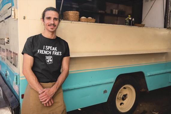 I Speak French Fries T-Shirt, Funny food pun t-shirt, Bilingual French joke gift