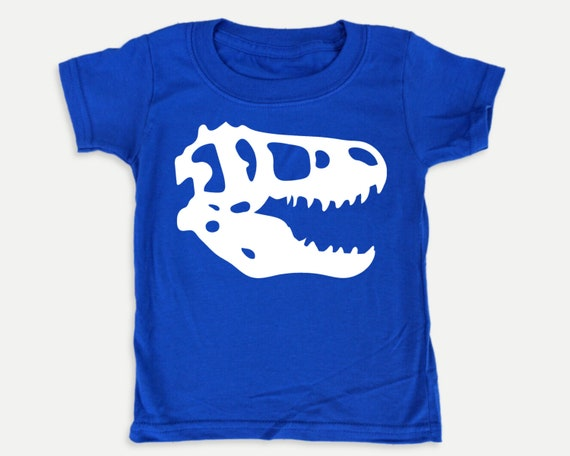 Dinosaur Skull Glow-in-the-dark Toddler Tee, Glow-in-the-dark Dinosaur shirt