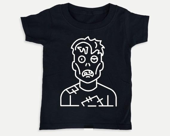 Zombie Glow in the Dark t-shirt, Halloween Toddler Tee, Halloween toddler costume