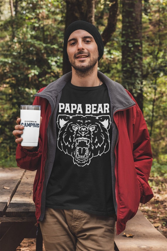 Papa Bear t-shirt with Grizzly Bear, tough guy grandpa gift, first time dad gift, Father's day gift for papa, Christmas gift for dad