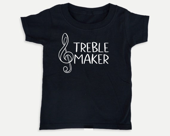 Treble Maker, Funny Music Toddler t-Shirt, Gift for Musician, Funny Classical Music kid t-shirt