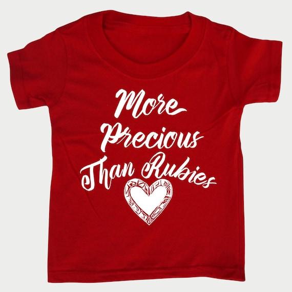 More Precious than Rubies toddler Tee, Christian Bible t-shirt for toddler Girls, Christian  Gift