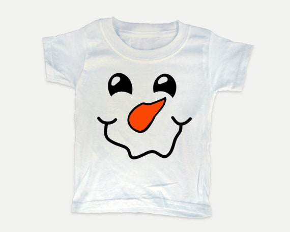 Happy Snowman Winter t-shirt, christmas t-shirt in youth, toddler, and infant sizes