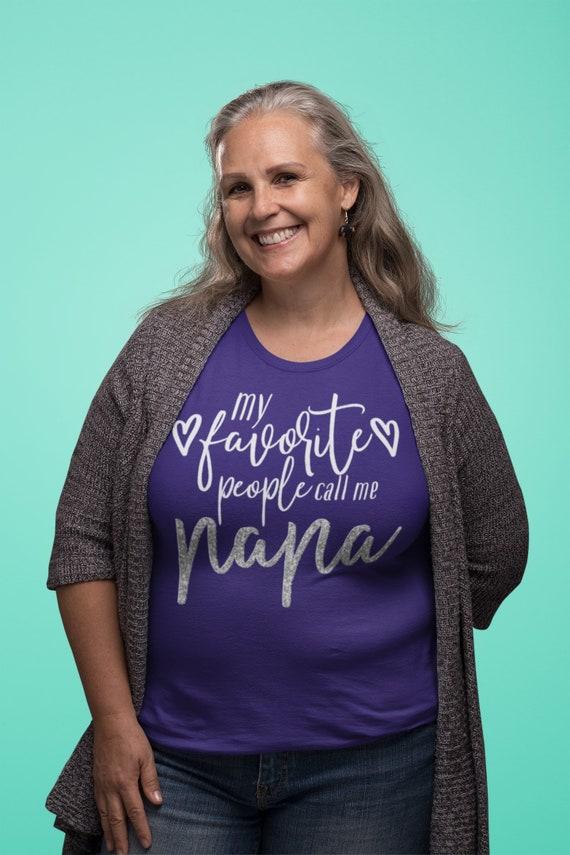 My favorite people call me Nana glitter text t-shirt, Nana birthday gift, Nana grandma gift, Nana mother's day present