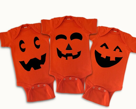 Pumpkin Faces baby outfits, Fall autumn baby holiday clothes