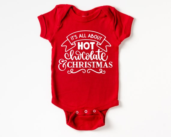 Hot Chocolate and Christmas Baby Outfit, Christmas Baby Clothes
