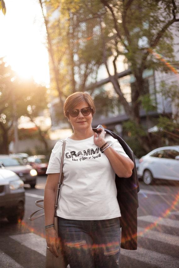 Funny Grandma gift tshirt, Custom Grandma Name shirt, Grammy Live Love Spoil Shirt, Christmas gift for Grandma