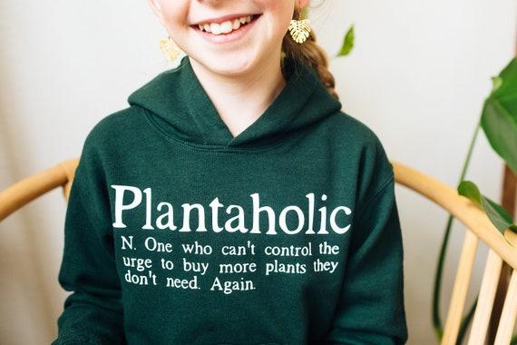 Youth Plantaholic Hoodie Jacket, Funny Gift for Gardener Teen Christmas Gift for Plant Lover