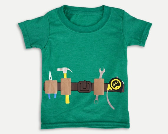 Tool Belt kids t-shirt, daddy's little helper Shirt, Funny kids shirt