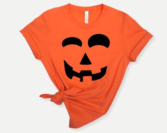 Pumpkin Face Halloween T-shirt, Matching Pumpkin shirts for Halloween
