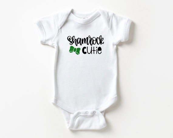 Shamrock Cutie, First St Patrick's Day Baby bodysuit, Irish baby outfit