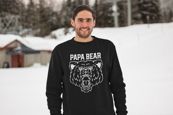 Papa Bear manly sweatshirt, outdoorsy dad gift, sweater for him