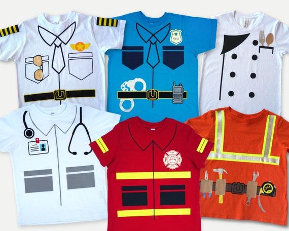 Career Costume kid shirt, Doctor dress up shirt, Police pretend play tshirt, Fireman shirt, Chef costume, Pilot toddler tee