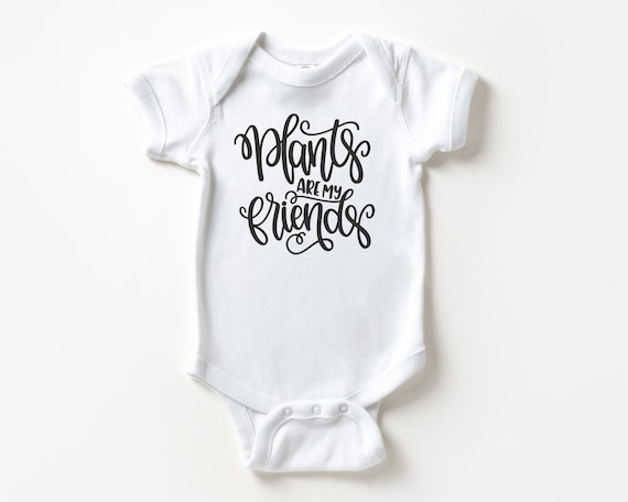 Plants are My Friends baby bodysuit, Garden Plant baby shower gift