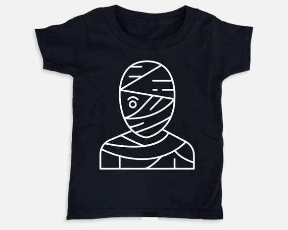 Glow in the Dark toddler shirt, Mummy Halloween shirt, Halloween Gender Neutral kids clothes, toddler halloween costume