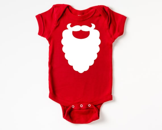 Santa Beard Baby Outfit, Christmas Baby Clothes