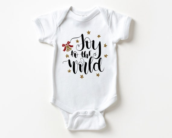 Joy to the World Baby Outfit, Christmas Baby Clothes