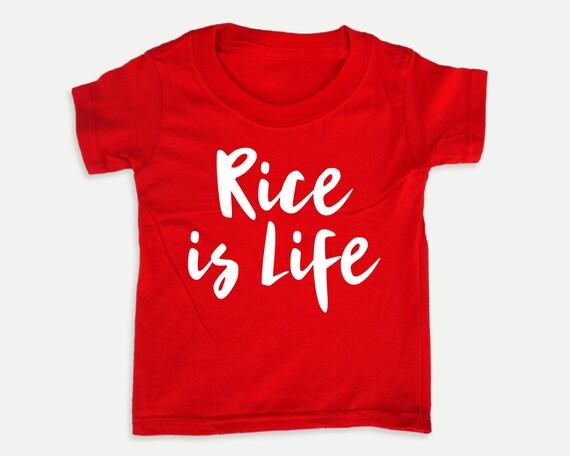 Rice is Life Toddler Shirt, Asian food toddler tshirt, Funny food kid shirts