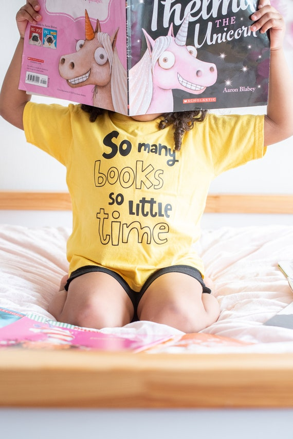 So Many Books So Little Time Toddler Tee, Reading Books t-shirt for Toddlers